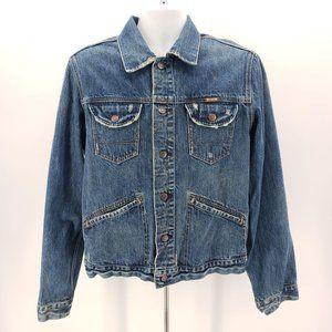 Hollister Denim Jean Distressed Jacket Men's Large
